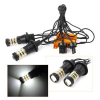 2x T20 7443 60 SMD Dual Color LED Light Car Switchback Turn Signal Lamp DRL
