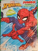 Marvel Spider-Man Jumbo Coloring and Activity Book Includes Holiday Ordiment