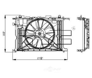 Radiator And Condenser Fan Assy TYC 622130