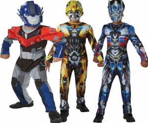 Transformers Costume Optimus Prime Superhero Bumblee Bee Fancy Dress Kids Outfit