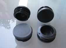 """4 - 1 1/2"""" Round Tubing Plastic Plug Cap, 1-1/2 Inch 11-19 Ga, 11/2 Pipe Dia"""