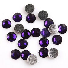 500pcs 24883 Deep Purple Charms Nail Art Stick-on Resin Rhinestone Flatback 6mm