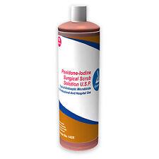 Povidone Iodine Scrub Solution 16 oz Wound Infection Bacteria Skin Dynarex 1425