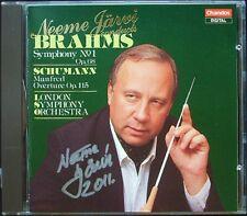 Neeme JÄRVI Signed BRAHMS Symphony No.1 SCHUMANN Mandfred Overture JARVI CD LSO