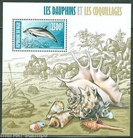 NIGER 2013 DOLPHINS & SEASHELLS SOUVENIR SHEET MINT NH