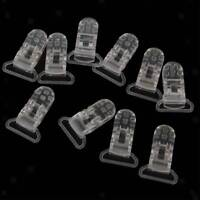 10pcs/lot 25mm Clear Plastic Baby Dummy Clips Pacifier Soothers Holder Sales
