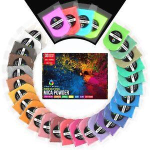 Mica Powder - Epoxy Resin Dye Ultimate 30 Colors Pigment Powder Set 150g/5oz