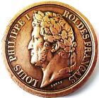 LOUIS PHILIPPE 1er ARMEE AU DUC D'ORLEANS PRINCE ROYAL M.DCCC.XLII .BRONZE 27 MM
