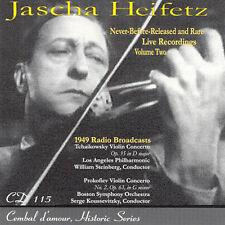Jascha Heifetz: never-before-released and rare Live Recordings/CD (NUOVO, CONFEZIONE ORIGINALE)