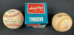 1970S RAWLINGS/WILSON PONY LEAGUE BASEBALL/PREP LEAGUE BASEBALL LOT 2421