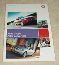 Vauxhall Astra G Coupe & Convertible Brochure 2003 1.6 1.8 2.0 16v 2.0 Turbo