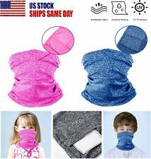 Kids Neck Gaiter Bandana Face Mask Can Put Filter Tube Scarf Balaclava Headband