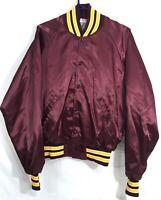 Vintage Satin ASU Arizona State University Jacket Size L #A45