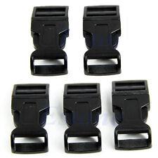 10Pcs Paracord Bracelets Buckles Black Plastic Curved Side Release