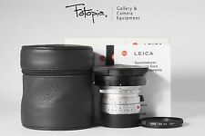 Leica Elmarit-M 24mm F2.8 ASPH - Silver / 11898 with packing & filter (6-bit)