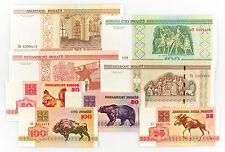 8 Diff. Biélorussie 1992-2000 au-Unc