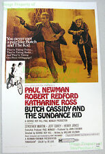 80's Vintage Butch Cassidy & Sundance Kid Redford Newman Lobby Card Poster Litho