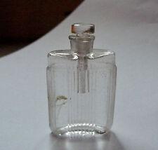 Ancien petit flacon miniature de parfum en verre avec bouchon tige - 1