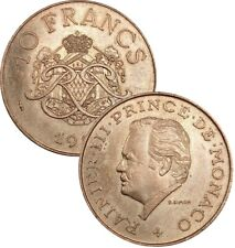 Monaco 10 Franc 1978-1982 KM#154 Rainier III (25) choose your coin