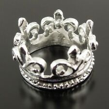 15pcs Silver Plated Alloy Princess Crown Pendants Fashion Jewelry 37413