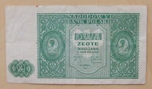 Poland banknote 2 zlote dated 1946