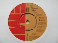 """LEROY BROWN One Woman Man UK 7"""" EX Cond"""