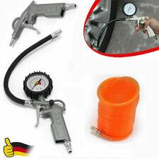 3tlg Druckluft Zubehör Set für Kompressor Schlauch Reifendruck Ausblaspistolen