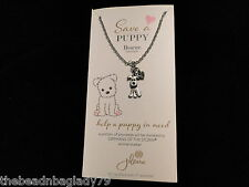 NEW JILZARA SAVE A PUPPY and HEART CHARM LOVE MY DOG NECKLACE