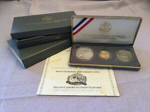 1991 United States Mount Rushmore Anniversary Coins US Mint Uncirculated