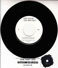 "GARY BARLOW  Love Won't Wait 7"" 45 rpm NEW record + juke box title strip RARE!"