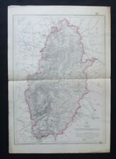 Antique Map: Nottinghamshire by John Dower, Weekly Dispatch Atlas, c 1860