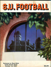 S.U. Football Syracuse vs. Penn State October 19, 1985 Program VGEX 010516jhe2