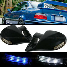For 83-93 S10 M-3 Style LED Signal Powered Glossy Black Side View Mirror