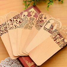5xVintage Wooden #C Hollow Out Bookmark Thin Home Office School Supply Souvenirs