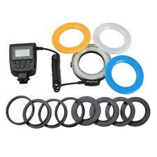 Pro Macro 48 LED Ring Flash Light RF550D for Nikon Canon Olympus DSLR Camera USA