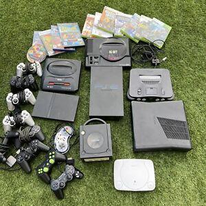 BIG Video Games Console Mixed Job Lot X Box Nintendo N64 GameCube Megadrive Etc