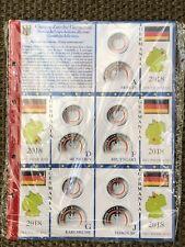 FOGLIO INSERTO ABAFIL GERMANIA 5 Euro 2018 ZONA SUBTROPICALE X 5 ZECCHE