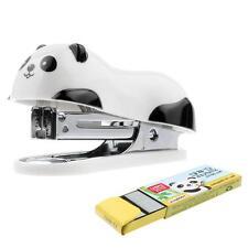 Office Home Supply Cartoon Panda Mini Document Paper Machine Stapler Staples Set