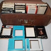 LOT OF 8 Track Tapes (17)(Vintage) IN CASE ( holds 24 Tapes)