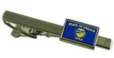 Barra de Oregon Clip de Corbata con Grabado mensaje Personalizado Caja