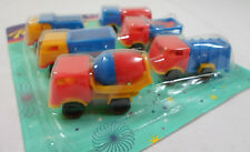 VTG 80's LOT OF 6 x 2'' TRUCKS PLASTIC TOY CARS PENNY TOYS KARAMPOLA LUCKY CUP B