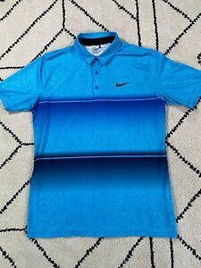 Nike GOLF  Dri Fit Golf Shirt Polo Size L STANDARD FIT Men's BLUE EUC