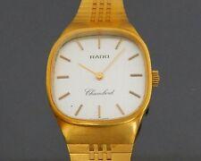 100% Authentic RADO Chambord Hand Winding Ladies Watch Gold Tone 17Jewels Swiss