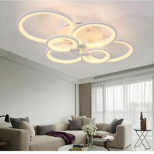 Modern Chandelier Lamp LED Acrylic Ceiling Light 6 Lights Remote Control