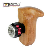 CAMVATE Wooden Handle Grip Right W/ ARRI Rosette Mount for RED Camera Video Cage