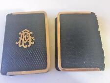 Antique Book of Common Prayer Bible Mini Hymnal Psalter 1898 14K Gilt Gold 2 pc