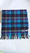 PENDLETON Woolen Mills Pure Virgin Wool SCARF Blue Purple Plaid Rare Color Combo