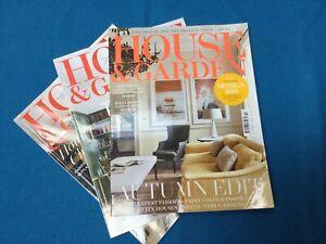 House and Garden Magazine Bundle Of Three Magazines. October/Nov/Dec 2021. VGC.
