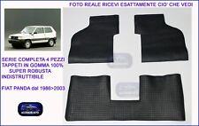 Tappetini auto in Gomma su misura Set 4 pz.Tappeti Auto FIAT Panda dal 1986>2003