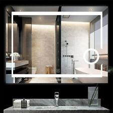 Led Bathroom Vanity Mirror 5mm Toughened Glass Anti-Fog Backlit w/ Touch Sensor